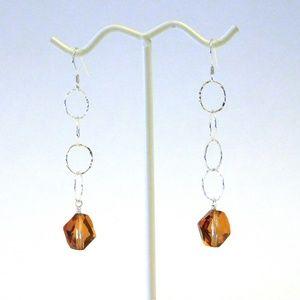 NWOT Sterling Silver & Swarovski Crystal Earrings